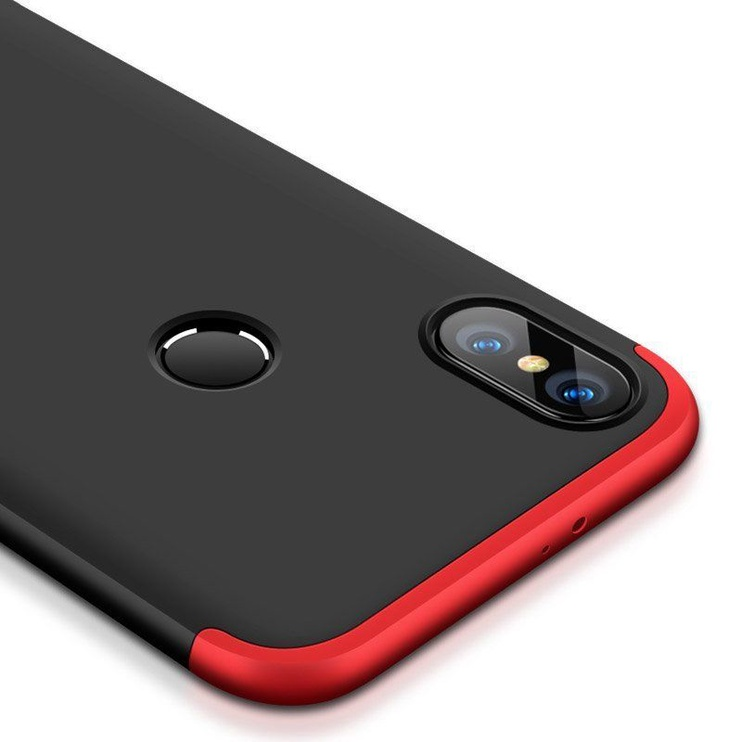 Hurtel 360 Protection Full Body Cover For Xiaomi Redmi S2 Red/Black