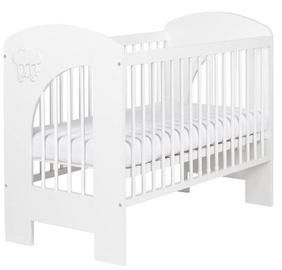 Vaikiška lova Klups Nel Cloud White, 125x66 cm