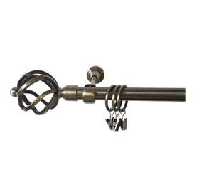 Viengubo karnizo komplektas Domoletti F512005, 240 cm, Ø 19 mm