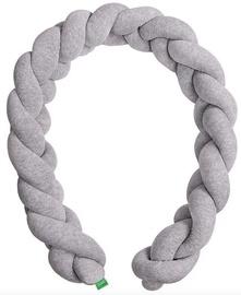 Lulando Cot Bumper Braid Welur Grey 200cm