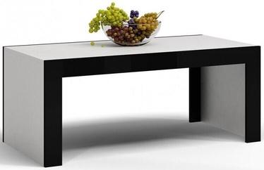 Журнальный столик Top E Shop Deko D1, белый/черный, 1200x600x500 мм