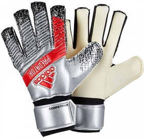 Adidas Predator Competition Gloves Silver/Red DY2603 Size 8