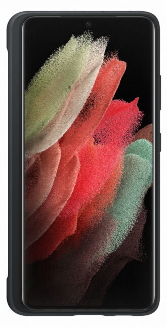 Samsung Silicone Back Case With S Pen For Samsung Galaxy S21 Ultra Black