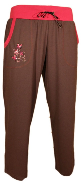 Bars Womens Trousers Brown/Pink 95 L