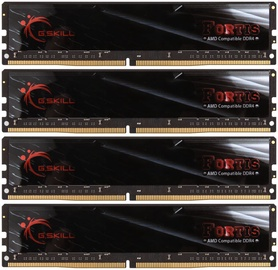 G.SKILL Fortis for AMD Black 64GB 2400MHz CL15 DDR4 KIT OF 4 F4-2400C15Q-64GFT