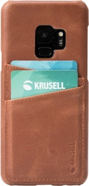 Krusell Sunne 2 Card Back Case For Samsung Galaxy S9 Brown