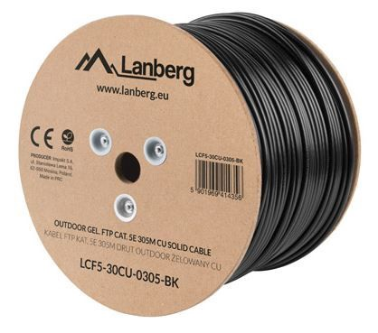 Lanberg Cable CAT 5e FTP Black 305 m