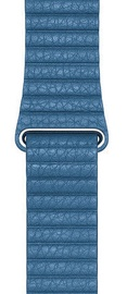 Apple 44mm Watch Band L Cape Cod Blue Leather Loop