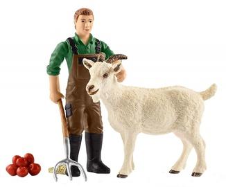 Žaislinė figūrėlė Schleich Farmer With Goat 42375