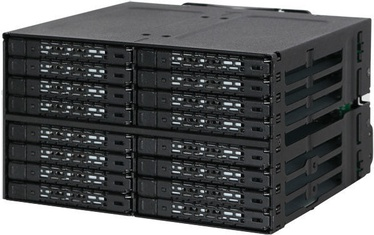 "Icy Dock ToughArmor MB516SP-B 16x2.5"" SAS / SATA Backplane Cage"