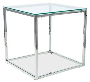 Kafijas galdiņš Signal Meble Modern Hilton B Silver, 550x550x550 mm