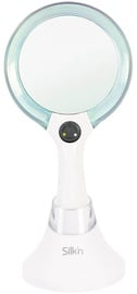 Kosmetinis veidrodis Silk'n MLU1PEU001 White/Blue, su apšvietimu, pastatomas, 13.2x26.3 cm