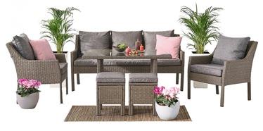 Välimööbli komplekt Domoletti Family Lounge SF1608 Brown/Grey, 7 istekohta