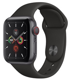 Apple Watch Series 5 40mm GPS Space Gray Aluminum Case with Black Band Cellular