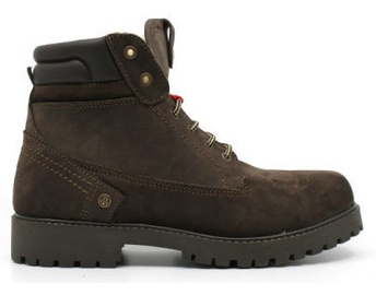 Wrangler Creek Fur Leather Winter Boots Dark Brown 41
