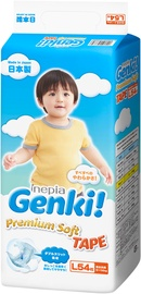 Genki Premium Soft Tape Diapers L 54