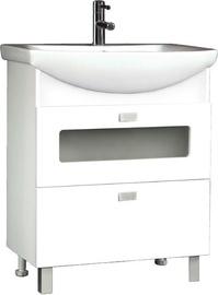 Шкаф для ванной MN Duet 70 660x800x336mm White