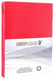 Palags DecoKing Nephrite, sarkana, 200x200 cm, ar gumiju