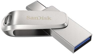USB-накопитель SanDisk Ultra Dual Drive Luxe, серебристый, 512 GB
