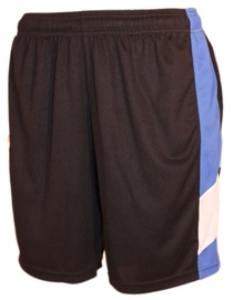 Bars Mens Football Shorts Black/Blue 191 S