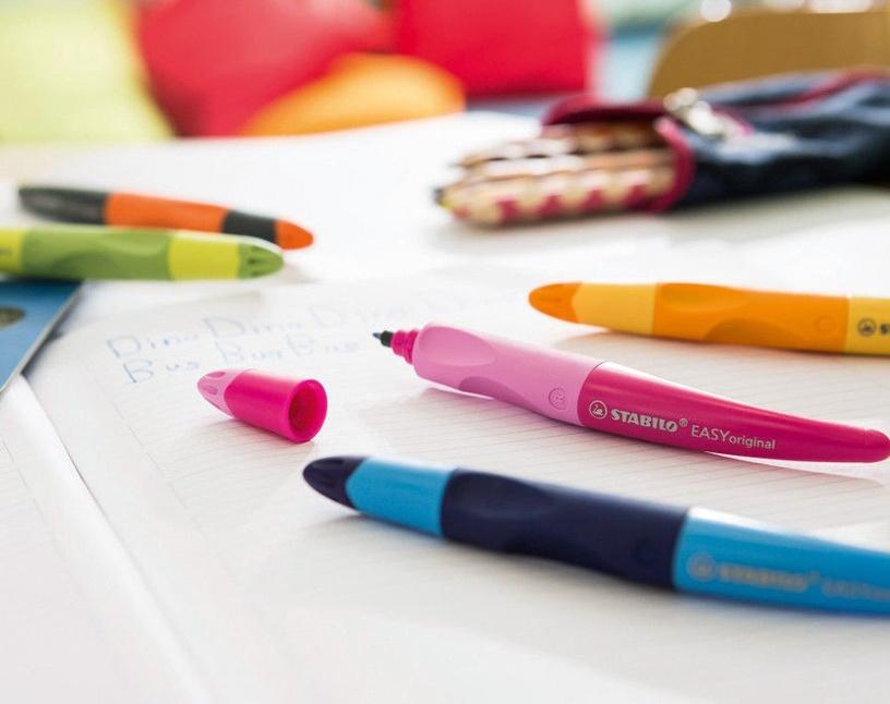 Stabilo Easy Original Right Handed Pen Metallic/Pink
