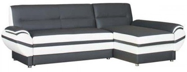 Bodzio Livonia Right Corner Folding Sofa Eco Leather Graphite/Pearl White