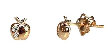 Diamond Sky Gold Earrings Apple VIII