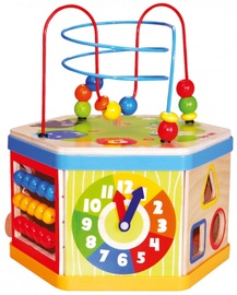 Bino Wooden Activity Cube 7in1