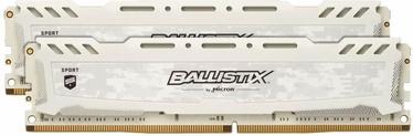 Crucial Ballistix Sport LT White 16GB 2666MHz CL16 DDR4 KIT OF 2 BLS2K8G4D26BFSCK