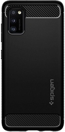 Spigen Rugged Armor Back Case For Samsung Galaxy A41 Black