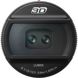 Panasonic Lumix G 12.5mm F12 3D Lens Black