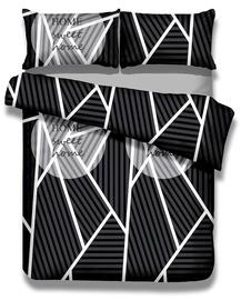 Gultas veļas komplekts AmeliaHome Averi Sweet Home, balta/melna/pelēka, 230x220/50x75 cm