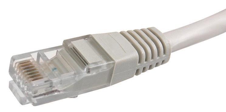 Maclean Cat. 5e RJ-45 To RJ -45 Cable Gray 1m