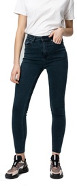 Audimas Womens Skinny Fit Stretch Denim Pants Petrol 29