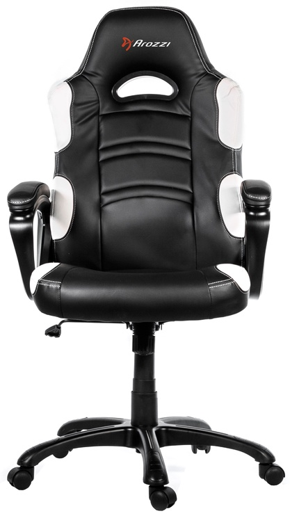 Žaidimų kėdė Arozzi Enzo Gaming Chair Black and White ENZO-WH