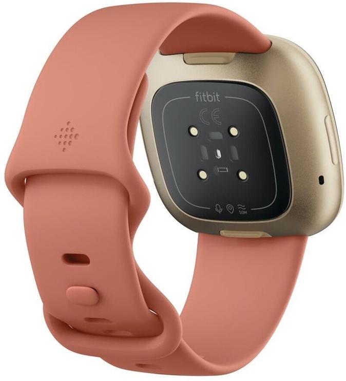 Nutikell Fitbit VERSA 3, kuldne/roosa