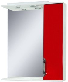 Sanservis Laura-60 Cabinet with Mirror Red 60x86.5x17cm