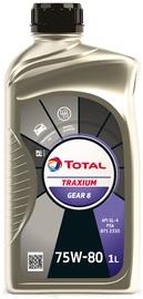 Масло для трансмиссии Total Traxium Gear 8 75W - 80, для трансмиссии, для легкового автомобиля, 1 л