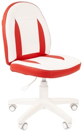 Детский стул Chairman 122, белый/красный, 400 мм x 965 мм