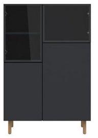 Black Red White Showcase Moko 135x90cm Black