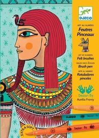 Djeco Stop Felt Tips Egyptian Art Art By Numbers Felt Brushes