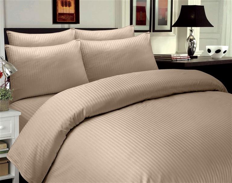 Gultas veļas komplekts Domoletti Stripes Beige, 140x200/50x70 cm