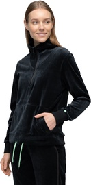 Audimas Cotton Velour Half-Zip Sweatshirt Black L