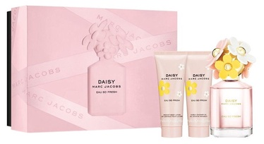 Marc Jacobs Daisy Eau So Fresh 75ml EDT + 75ml Shower Gel + 75ml Body Lotion New Design