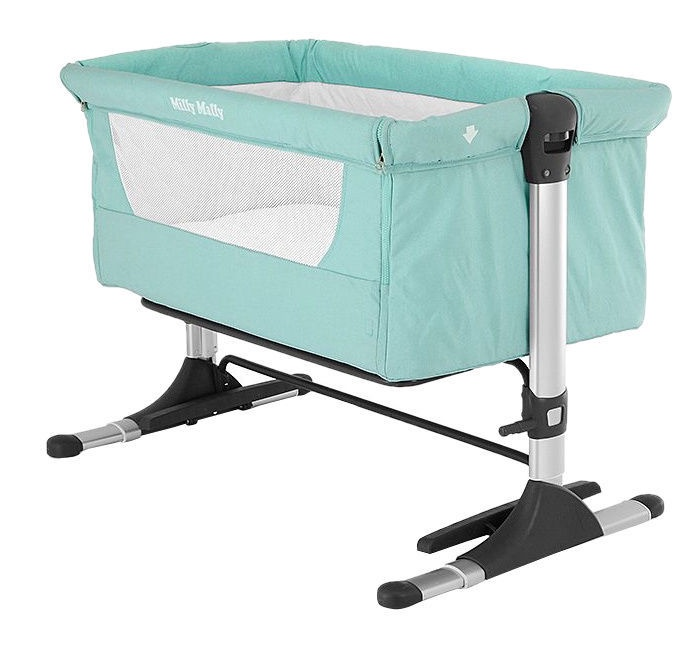 Milly Mally Side By Side Sleeping Crib Mint