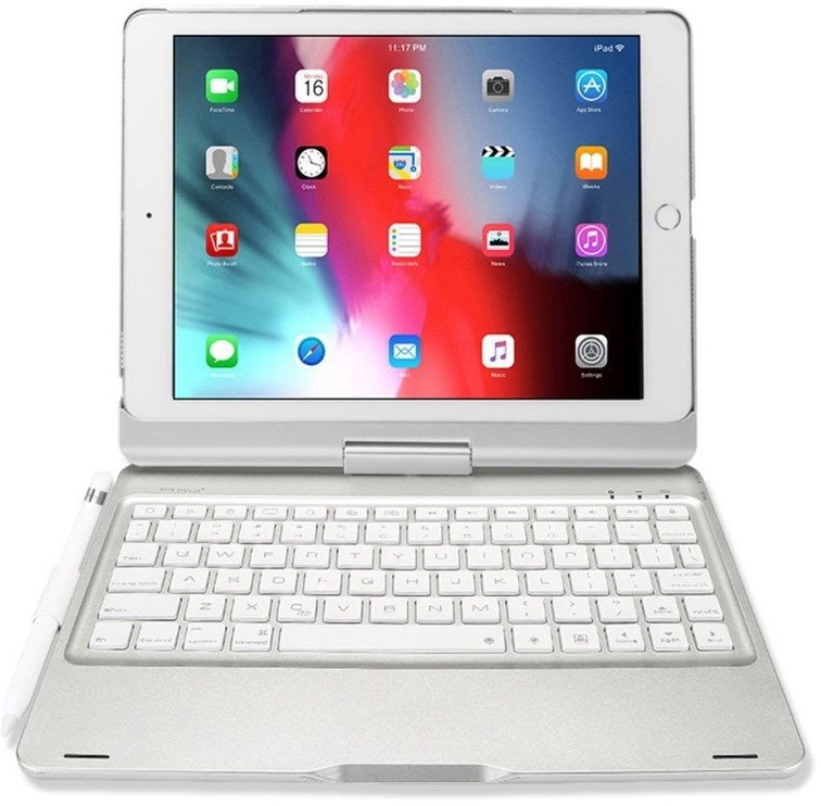 Dux Ducis Wireless Keyboard Magnet Case For Apple iPad Air 2019/Pro 10.5 Silver