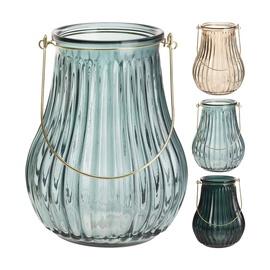 Stiklinė žvakidė-žibintas, 24 cm aukščio