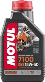 Motoreļļa Motul Engine Oil 7100 4T 15W - 50, sintētiskais, mototehnikai, 1 l