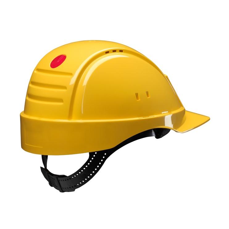 Apsauginis šalmas 3M, geltonas, 54-62 cm dydis