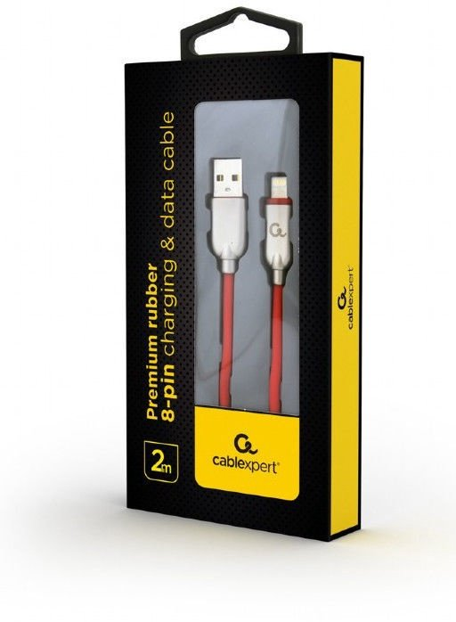 Gembird USB To Lightning Premium Rubber Red 2m